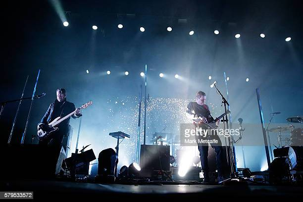 Georg Holm and Jonsi Birgisson of Sigur Ros perform during Splendour in the Grass 2016 on July 24 2016 in Byron Bay Australia
