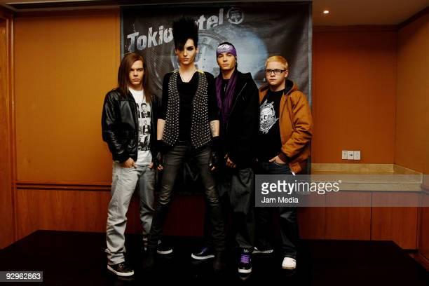 Georg Listing Bill Kaulitz Tom Kaulitz and Gustav Schafer members of the german music group Tokio Hotel at Presidente Intercontinental Hotel on...