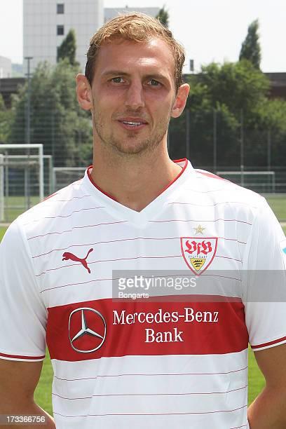 Georg Niedermeier poses during the VfB Stuttgart team presentation on July 10 2013 in Stuttgart Germany