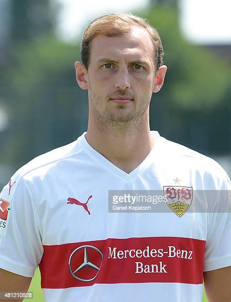 Georg Niedermeier poses during the VfB Stuttgart team presentation on July 17 2015 in Stuttgart Germany