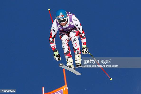 Georg Streitberger of Austria competes during the Audi FIS Alpine Ski World Cup Men's Downhill on November 28 2015 in Lake Louise Canada