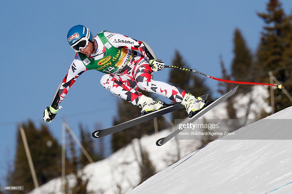 Georg Streitberger of Austria competes during the Audi FIS Alpine Ski World Cup MenÕs SuperG on November 29 2015 in Lake Louise Canada