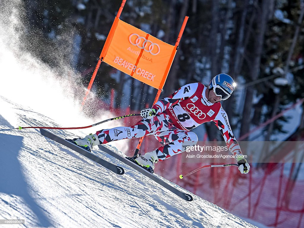 Georg Streitberger of Austria competes during the Audi FIS Alpine Ski World Cup Men's Downhill on December 04 2015 in Beaver Creek Colorado