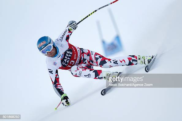 Georg Streitberger of Austria competes during the Audi FIS Alpine Ski World Cup Men's SuperG on December 18 2015 in Val Gardena Italy