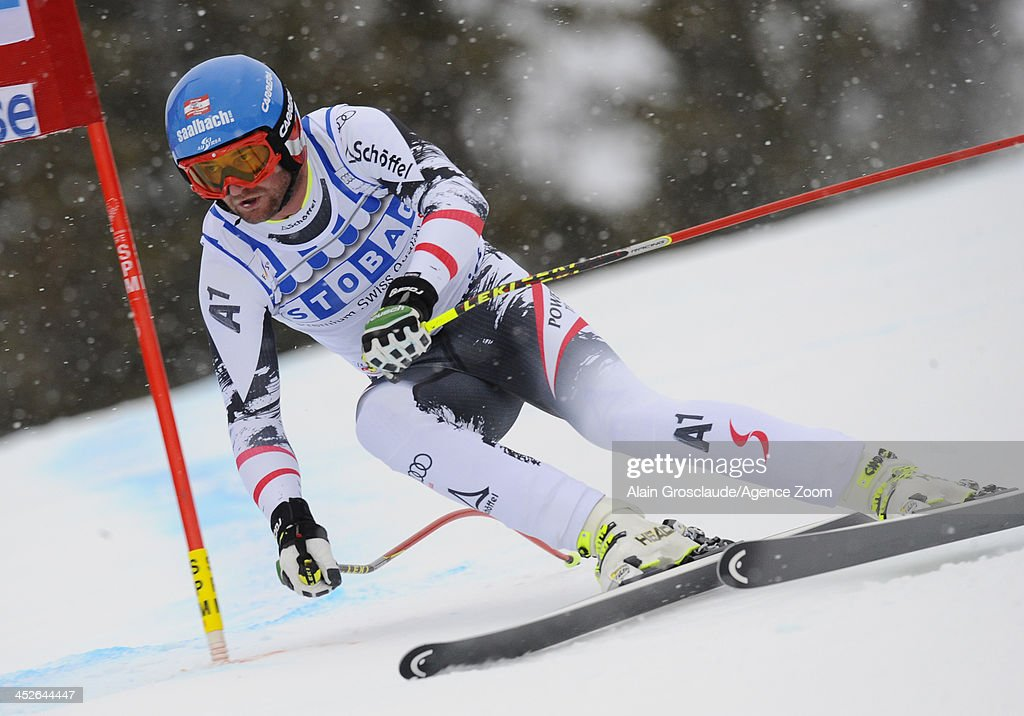 Georg Streitberger of Austria during the Audi FIS Alpine Ski World Cup Men's Downhill on November 30 2013 in Lake Louise Canada