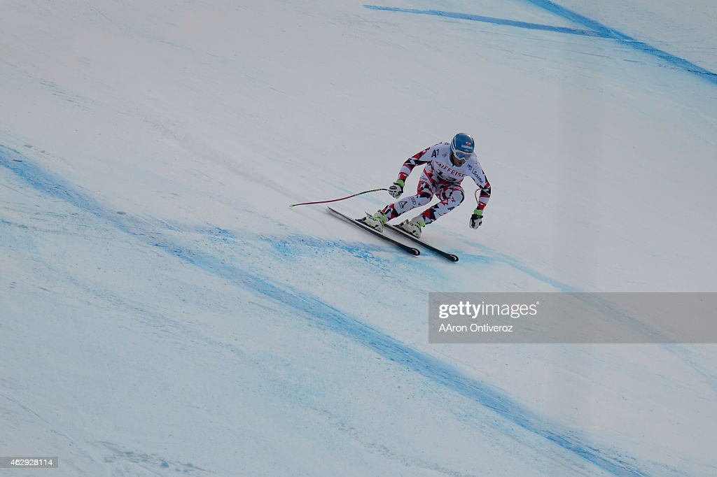 Georg Streitberger of Austria during the men's downhill final FIS Alpine World Ski Championships 2015 on Saturday February 7 2015