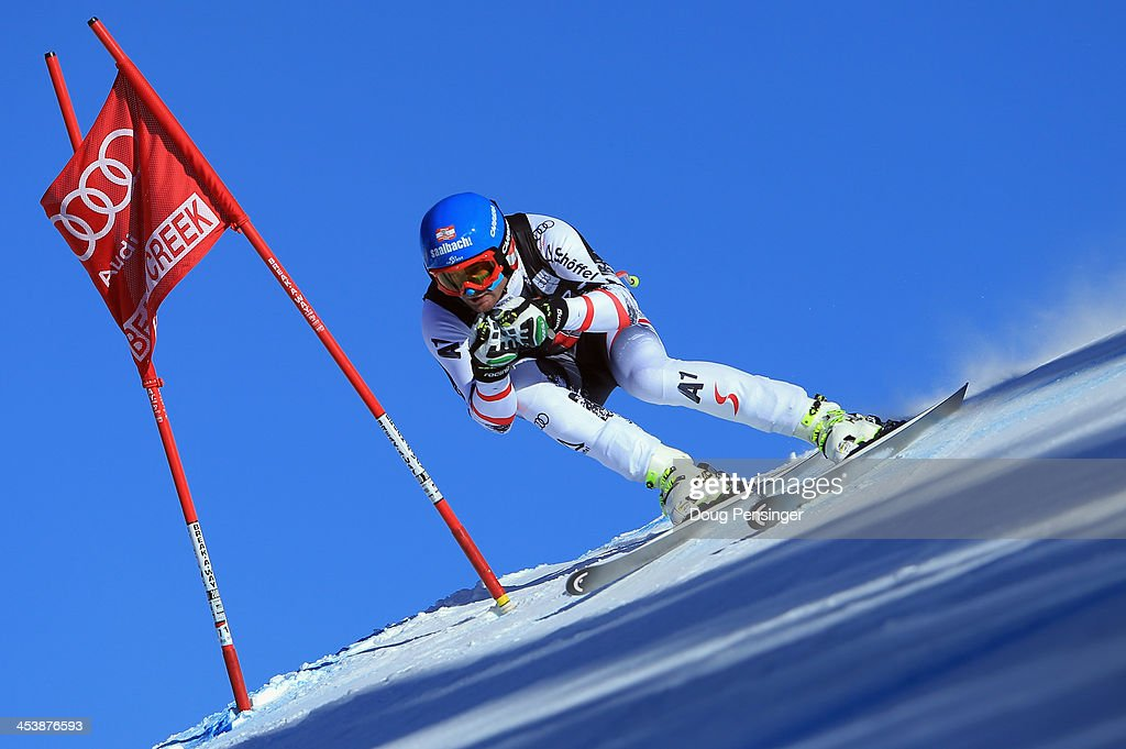Georg Streitberger of Austria in action during downhill training for the Birds of Prey Audi FIS Ski World Cup on December 5, 2013 in Beaver Creek, Colorado.