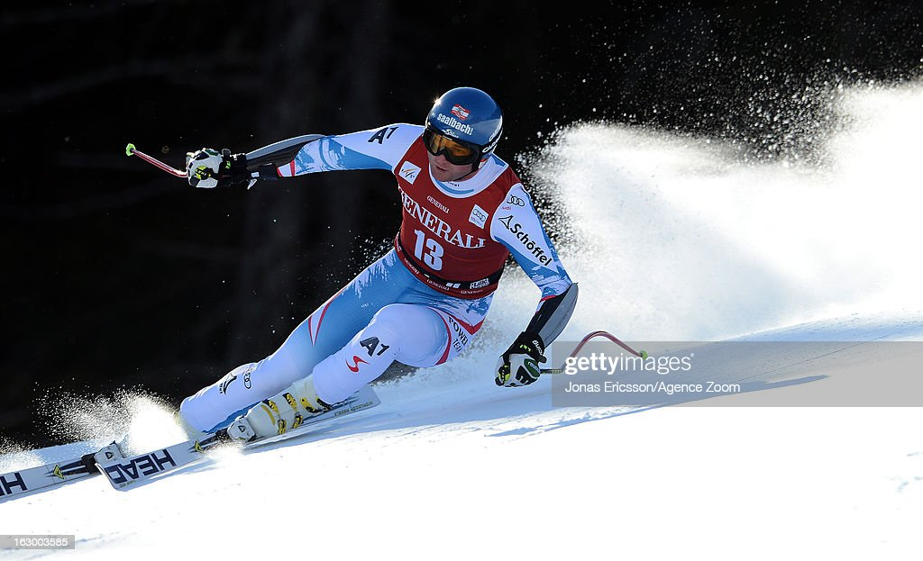 Georg Streitberger of Austria takes 2nd placeduring the Audi FIS Alpine Ski World Cup Men's SuperG on March 3 2013 in Kvitfjell Norway