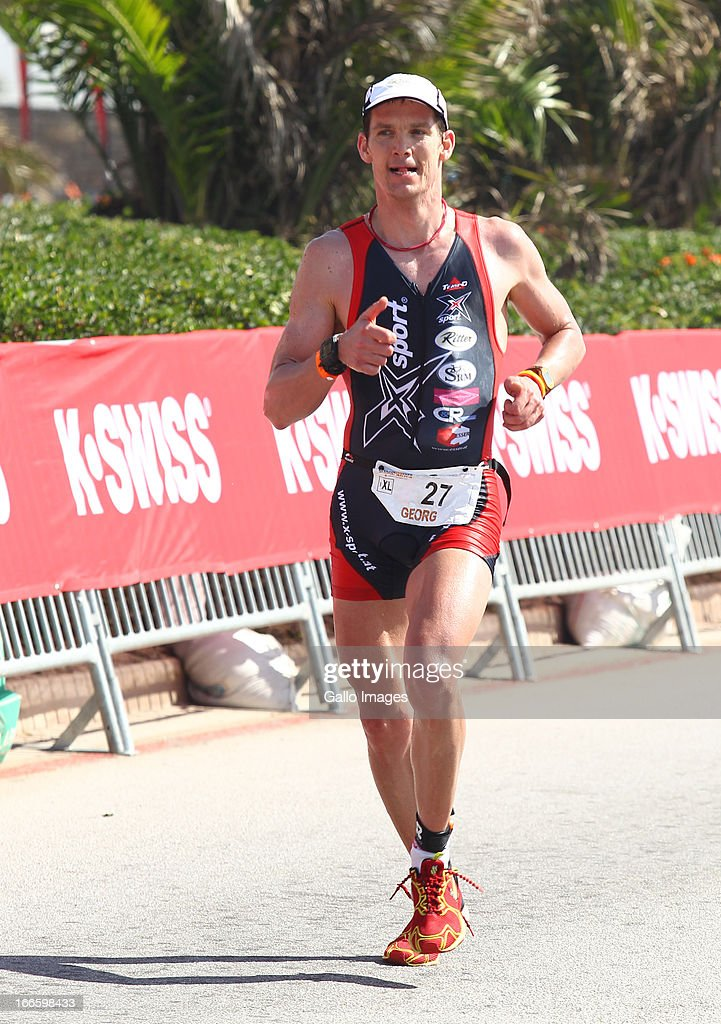 Georg Swoboda of Austria during the Spec-Savers Ironman South Africa from Hobie Beach on April 14, 2013 in Port Elizabeth, South Africa.