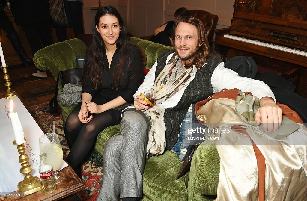 Georg Weissacher (R) and guest attend a special screening of 'The Uncountable Laughter of The Sea' at Soho House Dean Street on February 6, 2016 in London, England.