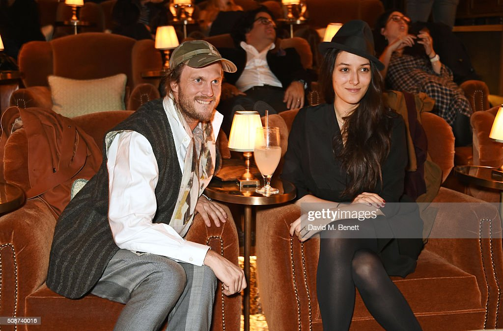 Georg Weissacher (L) and guest attend a special screening of 'The Uncountable Laughter of The Sea' at Soho House Dean Street on February 6, 2016 in London, England.