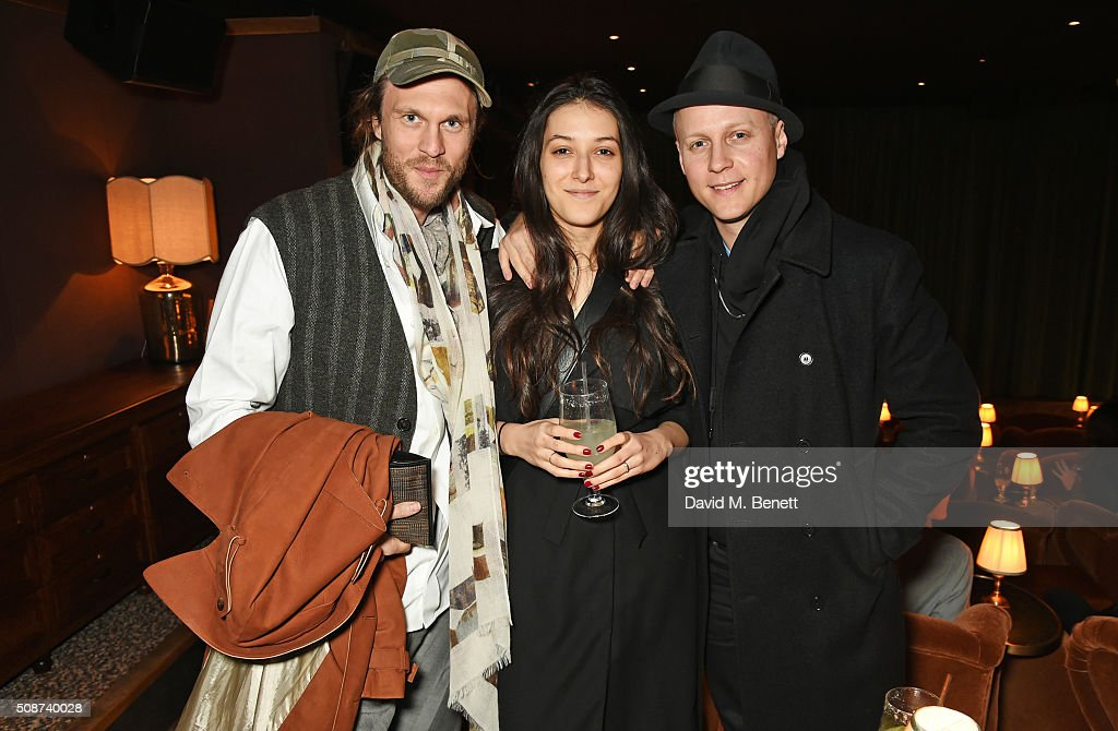 Georg Weissacher (L) and guests attend a special screening of 'The Uncountable Laughter of The Sea' at Soho House Dean Street on February 6, 2016 in London, England.