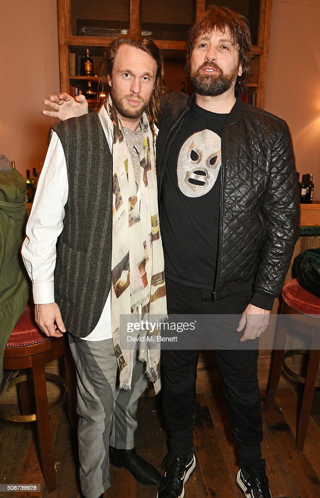 Georg Weissacher (L) and Patrick Brendan O'Neill attend a special screening of 'The Uncountable Laughter of The Sea' at Soho House Dean Street on February 6, 2016 in London, England.