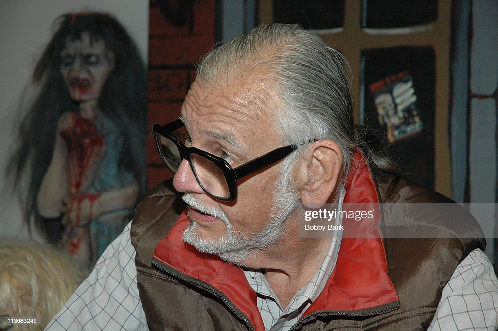 George A Romero during 2006 Big Apple Comic Book Convention - Press Reception at Penn Plaza Pavilion in New York City, New York, United States.