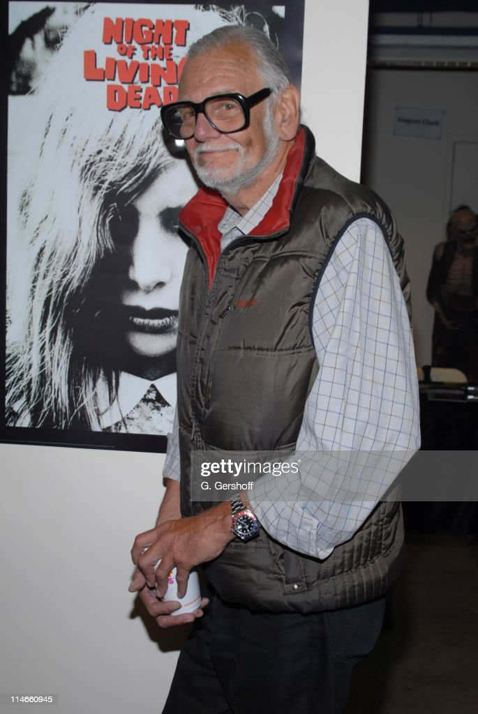 <a gi-track='captionPersonalityLinkClicked' href=/galleries/search?phrase=George+A.+Romero&family=editorial&specificpeople=211137 ng-click='$event.stopPropagation()'>George A. Romero</a> during 2006 Big Apple Comic Book Convention - Press Reception at Penn Plaza Pavilion in New York City, New York, United States.
