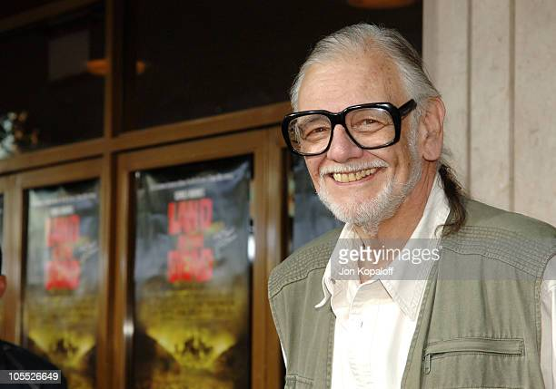 George A Romero during 'Land of the Dead' Los Angeles Premiere Arrivals at Mann's National Theater in Westwood California United States