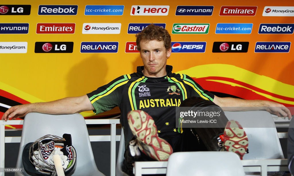 George Bailey, captain of Australia looks on from the dug out during the ICC World Twenty20 2012 Semi Final match between Australia and West Indies at R. Premadasa Stadium on October 5, 2012 in Colombo, Sri Lanka.