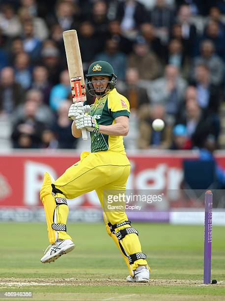 George Bailey of Australia bats during the 2nd Royal London OneDay International match between England and Australia at Lord's Cricket Ground on...