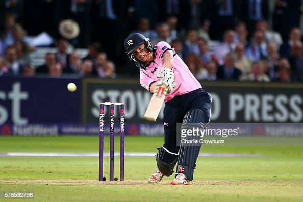 George Bailey of Middlesex hits out during the NatWest T20 Blast match ...