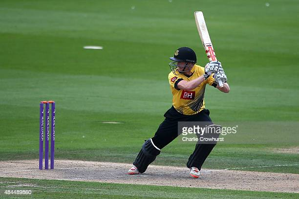 George Bailey of Sussex hits out during the Royal London OneDay Cup match between Sussex Sharks and Essex Eagles at The BrightonHoveJobcom County...