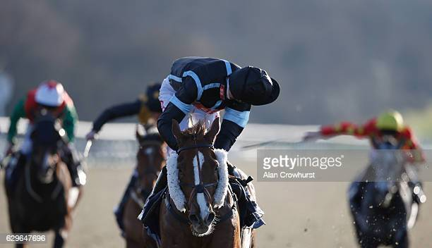 George Baker riding Alfredo easily win The Betway Stayers Handicap Stakes at Lingfield Park on December14 2016 in Lingfield England