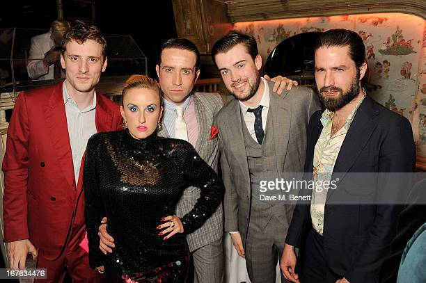 George Barnett Aimee Phillips Nick Grimshaw Jack Whitehall and Jack Guinnness attend Fran Cutler's surprise birthday party supported by ABSOLUT Elyx...
