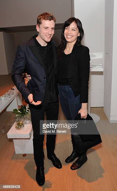 George Barnett and Daisy Lowe attends the Junior Ocean Council's 'Fashions for the Future' event at Phillips Gallery on March 19 2015 in London...