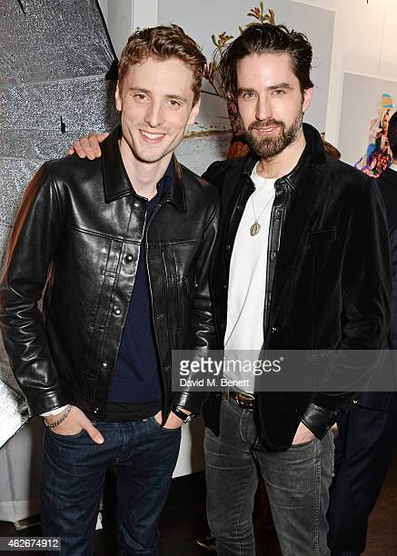 George Barnett and Jack Guinness attend the InStyle and EE Rising Star Party in association with Lancome Karen Millen and Sky Living at The Ace Hotel...
