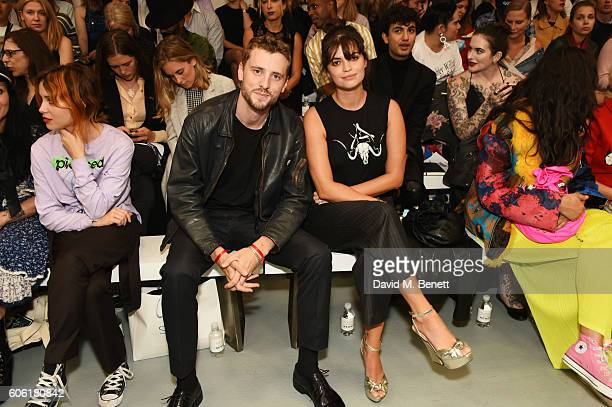 George Barnett and Pixie Geldof attend the Ashley Williams runway show during London Fashion Week Spring/Summer collections 2017 on September 16 2016...