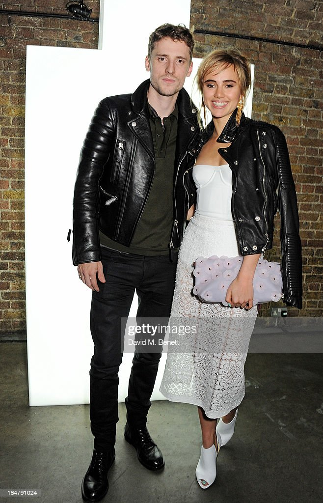 George Barnett (L) and <a gi-track='captionPersonalityLinkClicked' href=/galleries/search?phrase=Suki+Waterhouse&family=editorial&specificpeople=7591336 ng-click='$event.stopPropagation()'>Suki Waterhouse</a> attend the Burberry Brit Rhythm gig in London at Village Underground on October 16, 2013 in London, England.