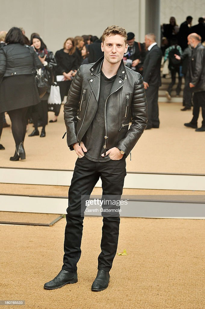 George Barnett arrives at Burberry Prorsum Womenswear Spring/Summer 2014 show during London Fashion Week at Kensington Gardens on September 16, 2013 in London, England.