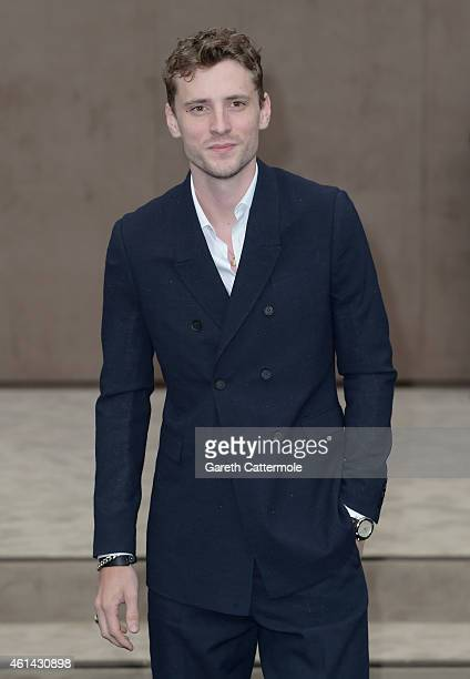 George Barnett attends the Burberry Prorsum AW15 London Collections Men at Kensington Gardens on January 12 2015 in London England