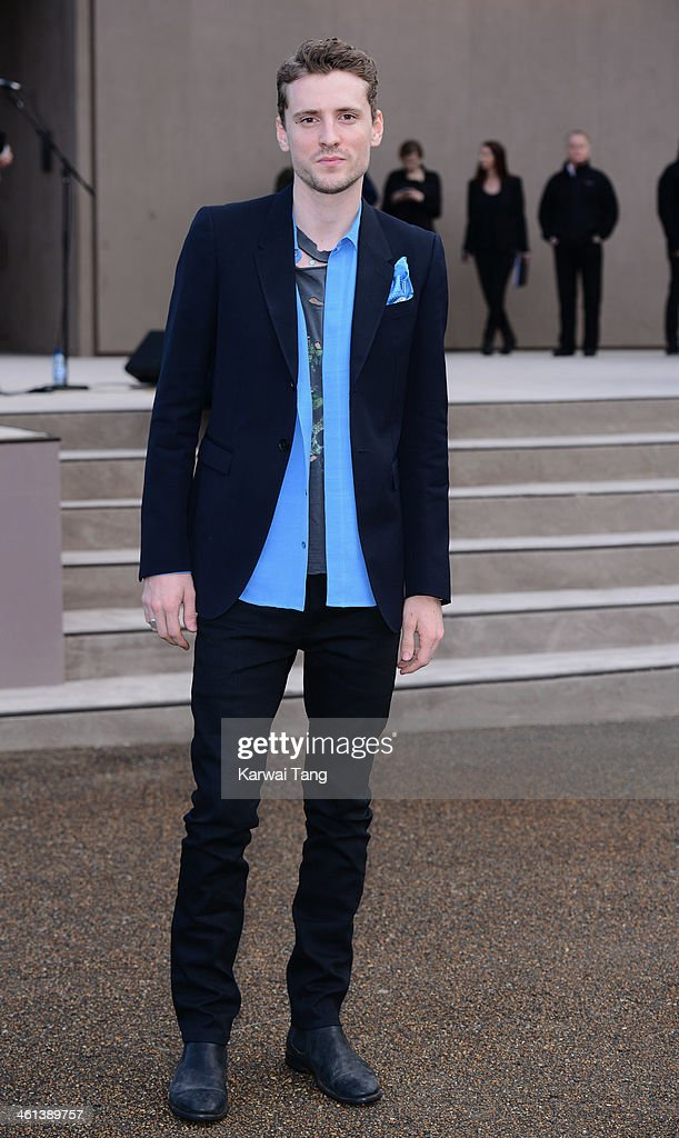 George Barnett attends the Burberry Prorsum show during The London Collections: Men Autumn/Winter 2014 held at Kensington Gardens on January 8, 2014 in London, England.