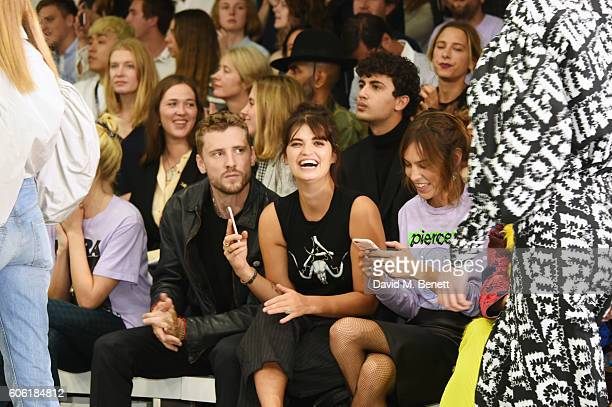 George Barnett Pixie Geldof and Alexa Chung attend the Ashley Williams runway show during London Fashion Week Spring/Summer collections 2017 on...