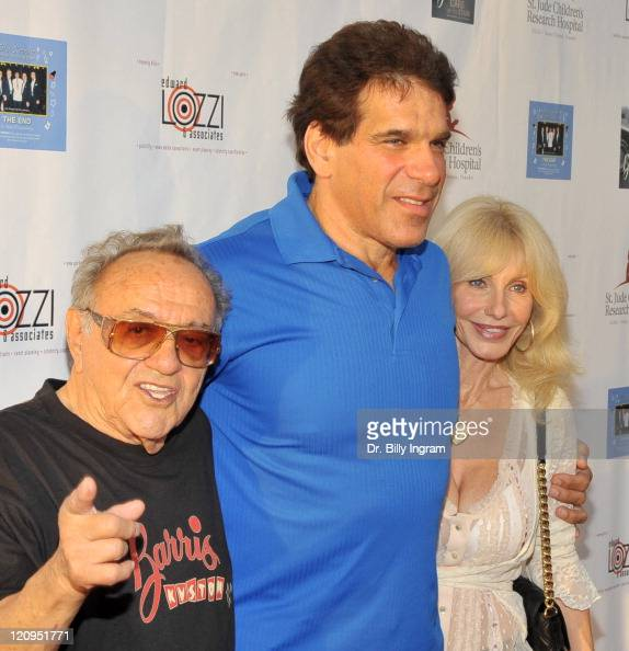 George Barris actor Lou Ferrigno and Carla Ferrigno attend Elvis hit making team 'The End'CD launch and George Barris book signing 'Barris Cars of...
