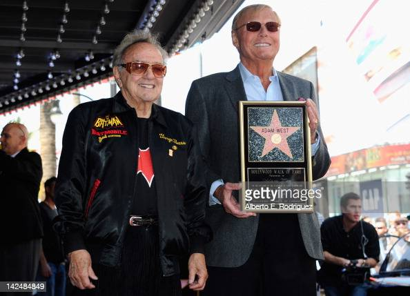 George Barris and actor Adam West attend a ceremony honoring Adam West with the 2468th Star on the Hollywood Walk of Fame on April 5 2012 in...