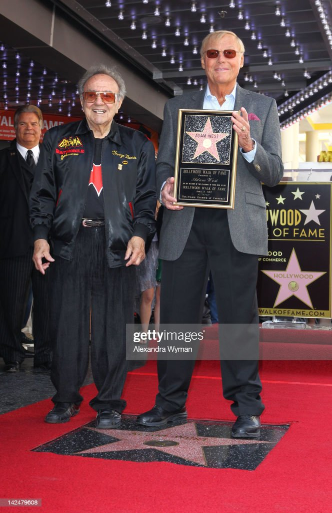 George Barris and Adam West at Adam West's Star ceremony On The Hollywood Walk Of Fame on April 5, 2012 in Hollywood, California.