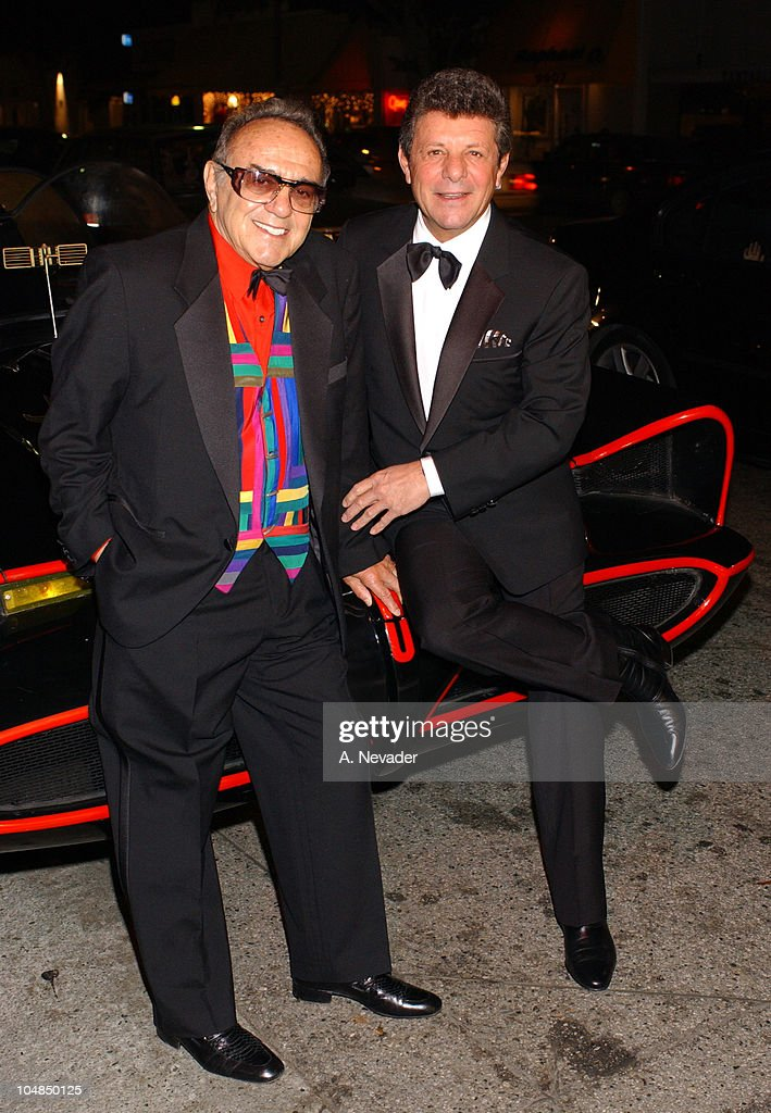 George Barris and Frankie Avalon on the Batmobile during 1st Annual Golden Youth Awards Gala at The Friars Club in Beverly Hills, California, United States.