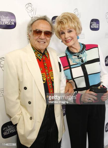 George Barris and Karen Kramer during 10th Anniversary of The Archive of American TV Red Carpet and Inside at Crustacean in Beverly Hills California...