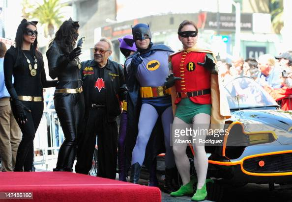 George Barris attends a ceremony honoring Adam West with the 2468th Star on the Hollywood Walk of Fame on April 5 2012 in Hollywood California