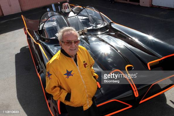 George Barris creator of the Batmobile poses with the car at the Barris Kustom Industries shop in North Hollywood California US on Tuesday March 22...