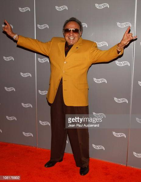 George Barris during Hot Wheels Hall of Fame Induction Gala and Charity Benefit Orange Carpet at Petersen Automotive Museum in Los Angeles California...