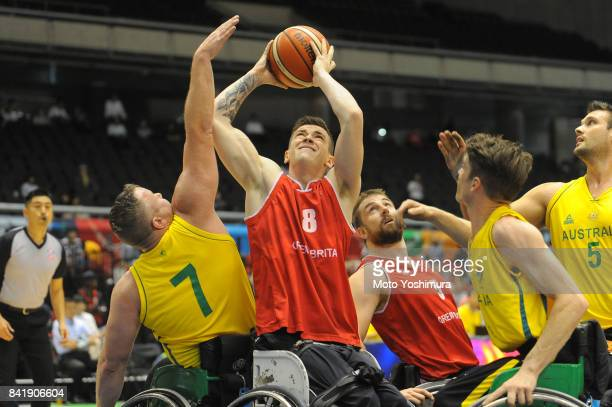 George Bates of Great Britain in action during the Wheelchair Basketball World Challenge Cup match between Australia and Great Britain at the Tokyo...