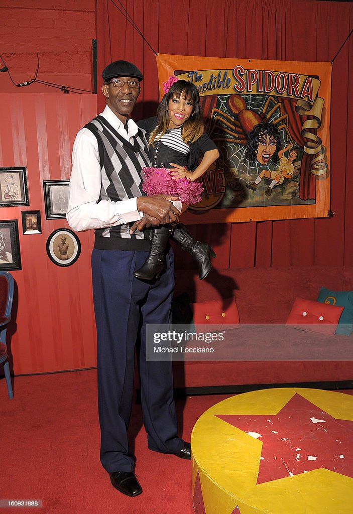 George Bell and 'Amazing Ali' Chapman attend Immortal Love Pop-up Experience - Freakshow & Immortalized on February 7, 2013 in New York City.