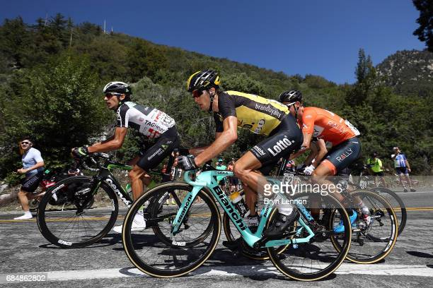George Bennett of New Zealand and Team Lotto NLJumbo in action on stage five of the AMGEN Tour of California from Ontario to Mt Baldy on May 18 2017...