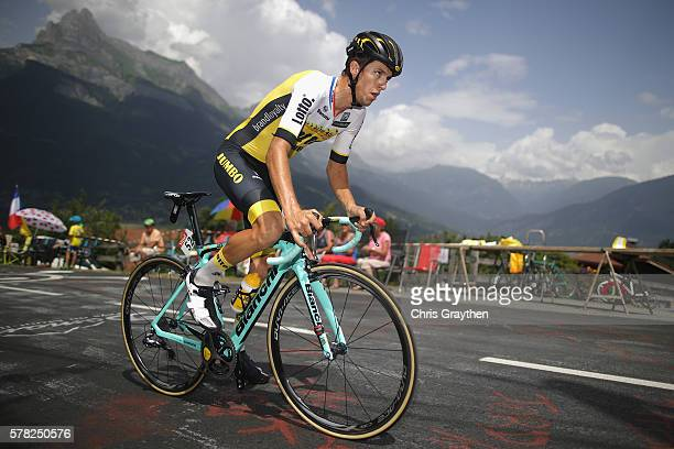 George Bennett of New Zealand and team Lotto NLJumbo rides during stage eighteen of the 2016 Le Tour de France from Sallanches to Megeve on July 21...