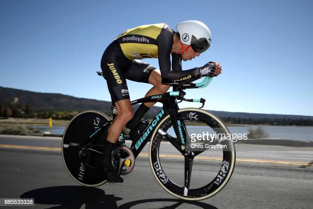 George Bennett of New Zealand riding for Team Lotto NLJumbo rides during stage five of the AMGEN Tour of California from Ontario to Mt Baldy on May...