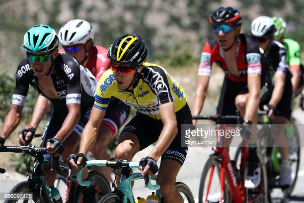 George Bennett of the Netherlands and LottoNLJumbo rides in the peloton on stage seven of the 2017 AMGEN Tour of California on May 20 2017 in...