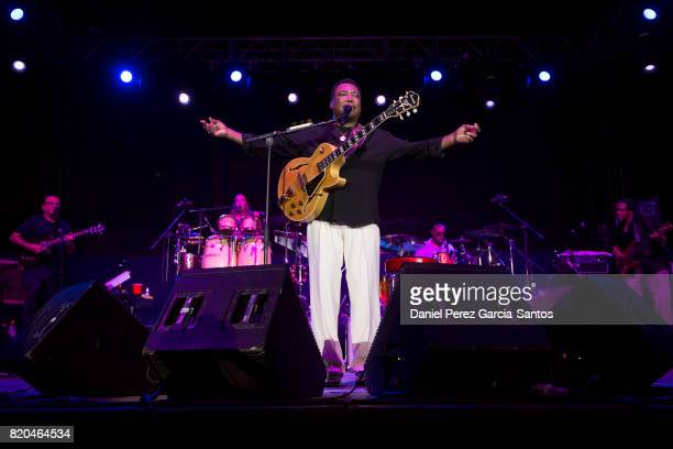 George Benson performs in the Puente Romano Tennis Club on July 21 2017 in Marbella Spain