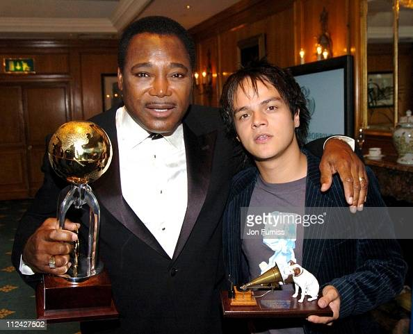 George Benson winner of the Raymond Weil International Award and Jamie Cullum winner of the Best New Music Award